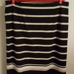 Sz 18-20 Cato Striped Knit Skirt